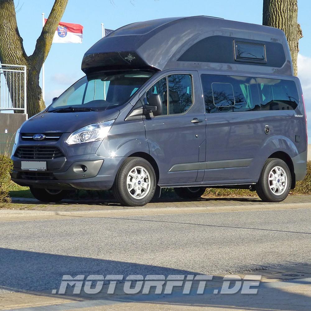 80W (12V) Solar-Komplett Set SCHWARZ passend für Ford Nugget 2 ...