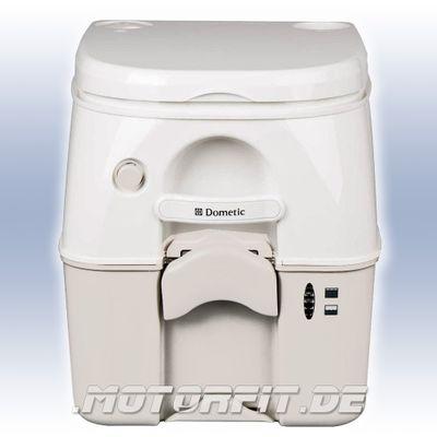 Dometic 976 - Chemie-Toilette - 8,7 l Frischwasser / 18,9 l Abwasser weiß/beige