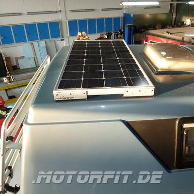 110W / 115W Solar-Komplett Set MPP-Regler passend  für Ford Nugget 1 / Westfalia Nugget 1 110 Watt Silber Set – Bild 1