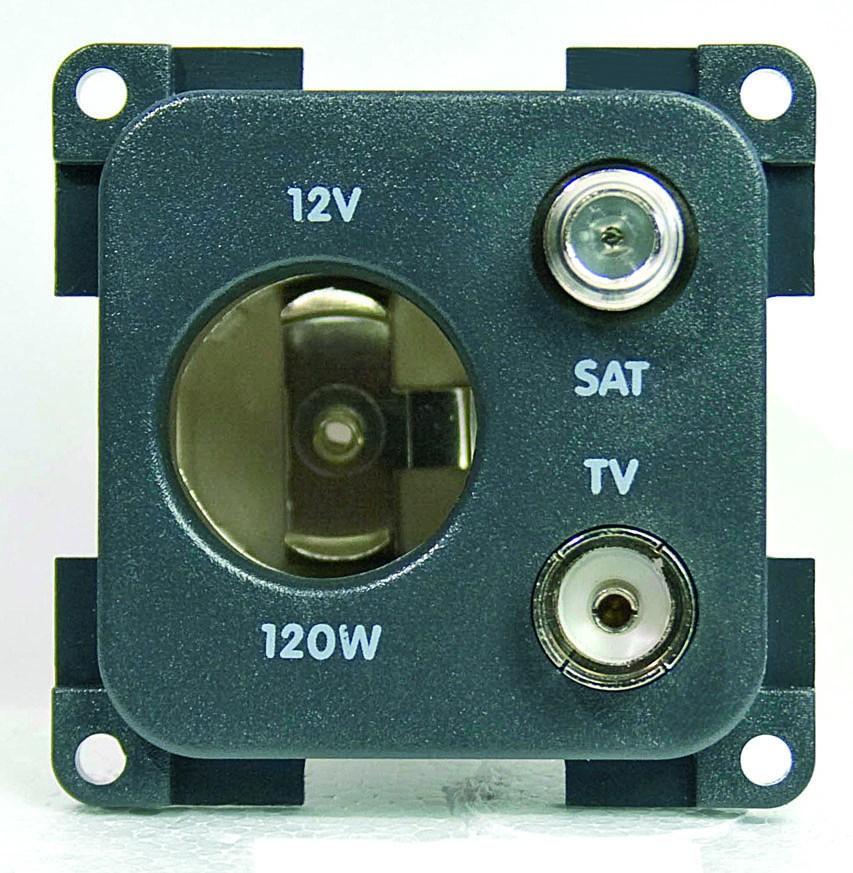 Upotettava pistorasia DIN TV + SAT - 12 V pistotulpat japistorasit - 9953238 - 1