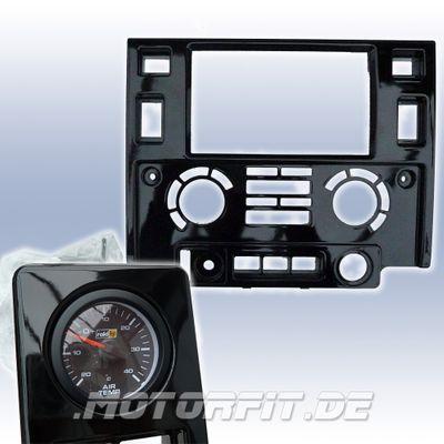 Doppel-DIN Radioblende für Landrover Defender- Hochglanz schwarz inkl. Temperaturanzeige Sport – Bild 1