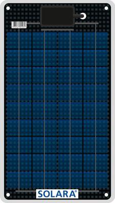 SOLARA Solarmodul M-SERIE S50P36 - 12Wp - Marine - ~50Wh pro Tag - 431x243x3mm – Bild 1