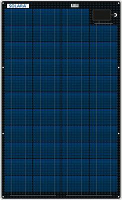 SOLARA Solarmodul M-SERIE S220P43 - 55Wp - Marine - ~220Wh pro Tag - 844x481x3mm – Bild 1