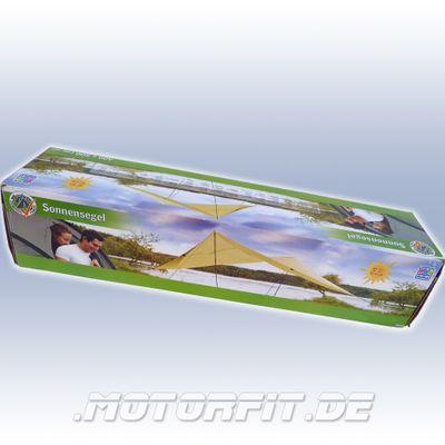 Sonnensegel Polyester Sand - 400 x 500 cm - vielseitig und schattenspendend ! – Bild 2