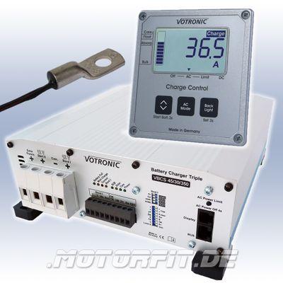 Votronic Battery Charger VBCS 30/20/250 Profi-Set: Triple Ladegerät + LCD-Charge Control + Temperaturfühler – Bild 1