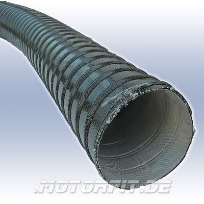 90'er Heissluft-/Heizungs-/Abgas-Schlauch L1m x Ø 90mm, max. 300°C, silbergrau, innen weiß – Bild 1