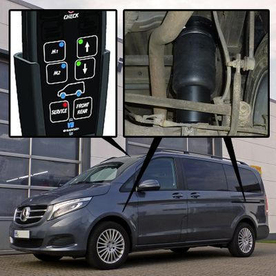 Luftfederung für Mercedes-Benz V-Klasse ab 2014 - 4x4 - Vorder- & Hinterachse - 4C - Voll-Luftfederung 447 – Bild 1