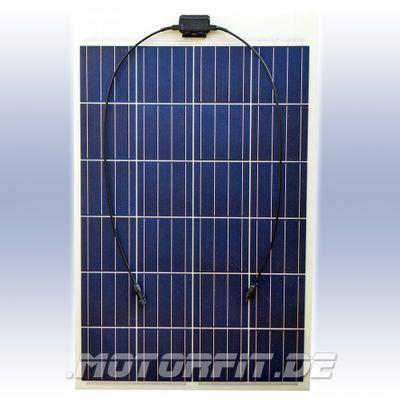 100W Solarmodul 100 Watt 100WP - Semi-Flexibel Solarzellen - extrem widerstandsfähig zum Kleben – Bild 1