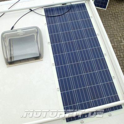 100W Solarmodul 100 Watt 100WP - Semi-Flexibel Solarzellen - extrem widerstandsfähig mit Ösen – Bild 3