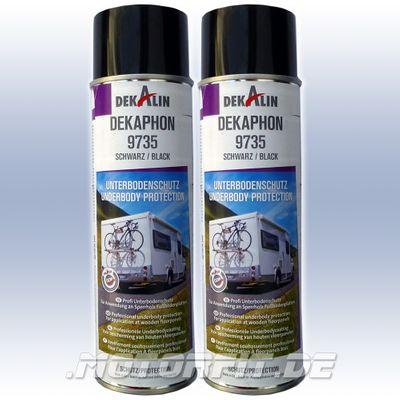 2x Dekalin DEKAphon 9735 - Profi Unterbodenschutz Spray für Sperrholz Fußbodenplatten - 2x 500ml – Bild 1