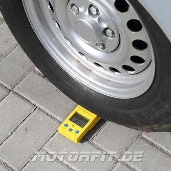 VB Auflastung Mercedes-Benz V-Klasse nach Einbau VB Luftfederung