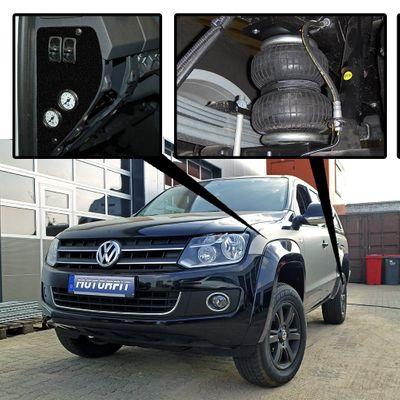 VB Auflastung Volkswagen Amarok nach Einbau VB Luftfederung – Bild 2