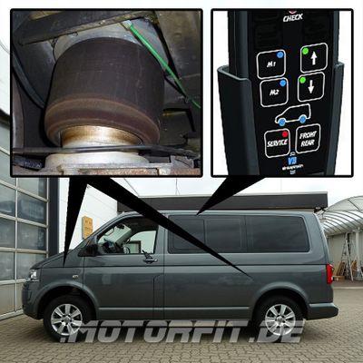 Luftfederung für Reha Volkswagen Transporter - T5 2003-2015 - 3,2t Maxi +30mm (Erhöhungskit) Vorderachse & Hinterachse Voll-Luftfederung – Bild 1