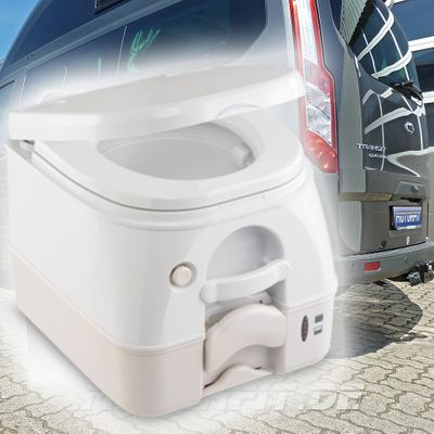 Chemie-Toilette passend für Ford Nugget 2 - klein - 8,7 l Frischwasser / 9,8 l Abwasser weiß/beige – Bild 1