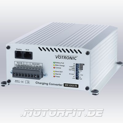 Votronic Lade-Wandler VCC 1212-75 - 12V/75A / VCC1212-75 Ladebooster Booster