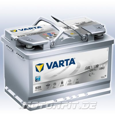 VARTA E39 Silver Dynamic AGM 70AH Autobatterie Starterbatterie 570 901 076
