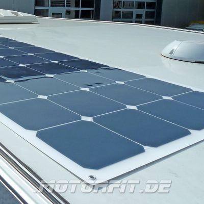 100W Solarmodul 100 Watt - SSF100 - 2017 Semi-Flexibel Back-Contact Solarzellen - extrem widerstandsfähig 1237 x 546 x 3,2 – Bild 4
