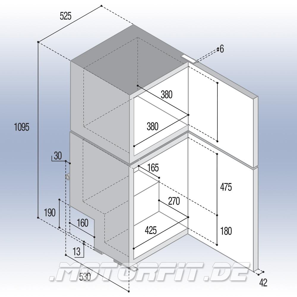 vitrifrigo dp150i k hlschrank 12 24 v 150l 2 t ren 12v 24v. Black Bedroom Furniture Sets. Home Design Ideas