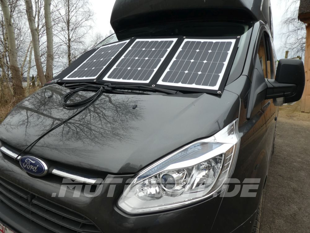 faltbares solarpanel f r wohnmobil solara solarset dcsolar. Black Bedroom Furniture Sets. Home Design Ideas