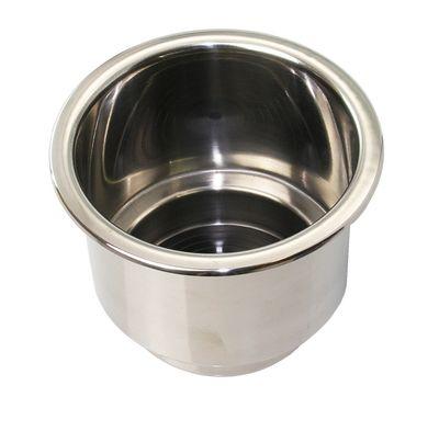 Einbau CUPHOLDER Ø 92 mm Getränkehalter Edelstahl einbaubar Wasserablauf rostfrei – Bild 1