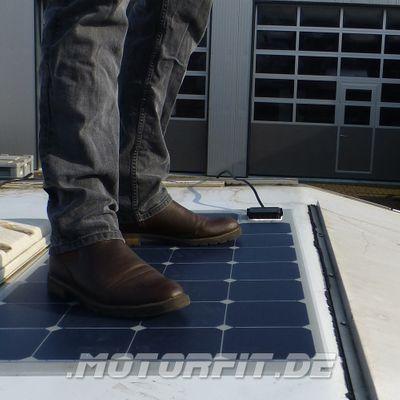 110W (12V) Wohnmobil Solar-Set - 110 Watt Semi-Flex Solarpanel + MPP Solar-Laderegler + Anbauteile -voll begehbar- Set – Bild 3
