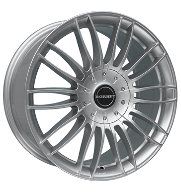 Borbet 4x Leichtmetallfelge CW3 7,5 x 17 Zoll für Ford Ranger sterling silver Radlast 1050 LK139 Alufelge Alufelgen silber Felgensatz
