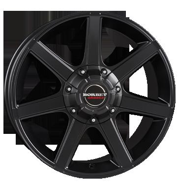 Borbet 4x Leichtmetallfelge CWE 8,5 x 18 Zoll für Nissan Navara D40/D401 black matt Radlast 1050 LK114 Alufelge Alufelgen schwarz Felgensatz