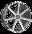 Borbet 4x Leichtmetallfelge CWE 8,5 x 18 Zoll für Nissan Navara D40/D401 mistral anthracite LK114 Alufelge Alufelgen anthrazit Felgensatz