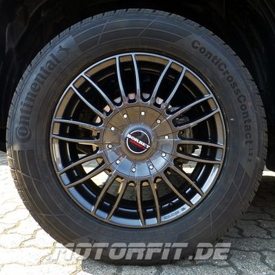 Borbet 4x Leichtmetallfelge CW3 7,5 x 18 Zoll für Nissan Navara D23 / NP300 mistral anthracite Radlast 1250 LK114 Alufelge Alufelgen anthrazit Felgensatz – Bild 2