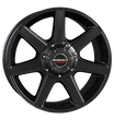 Borbet 4x Leichtmetallfelge CWE 8,0 x 17 Zoll für Nissan Navara D23 / NP300 black matt Radlast 1050 LK114 Alufelge Alufelgen schwarz Felgensatz