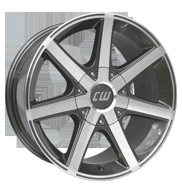 Borbet 4x Leichtmetallfelge CWE 7,0 x 16 Zoll für VW Amarok mistral anthracite Radlast 1050 LK120 Alufelge Alufelgen anthrazit Felgensatz