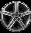 Borbet 4x Leichtmetallfelge CWD 7,0 x 17 Zoll für VW Amarok mistral anthracite Radlast 875 LK120 Alufelge Alufelgen anthrazit Felgensatz