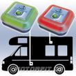 Linnepe TriGasAlarm 2er SET Gaswarner Gasmelder Wohnmobil Wohnwagen Boot Tri-Gas-Alarm Propan Kohlenmonoxid CO und KO Gas