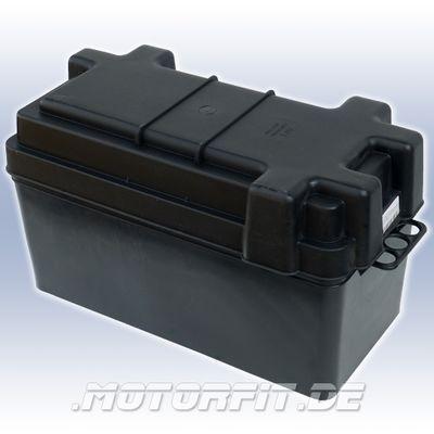 PLASTIMO Batteriekasten 385x175x225mm Innenmaß: 400x195x240mm + Gurt + Schnalle Batteriebox Batteriehalter – Bild 1