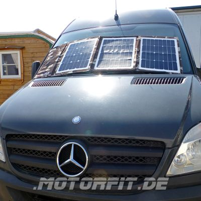 Faltbares Solarset SONDEREDITION Camouflage Army-Look DCsolar Power Move 110Wp 12V Falt- und Tragbar Beschattungssicher! VW California Ford Nugget Solarpanel powermove  – Bild 3