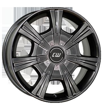 Borbet 4x Leichtmetallfelge CH 7,5 x 17 Zoll für VW Amarok Auflastung mistral anthracite glossy Radlast 1320 LK120 Alufelge Alufelgen anthrazit Felgensatz