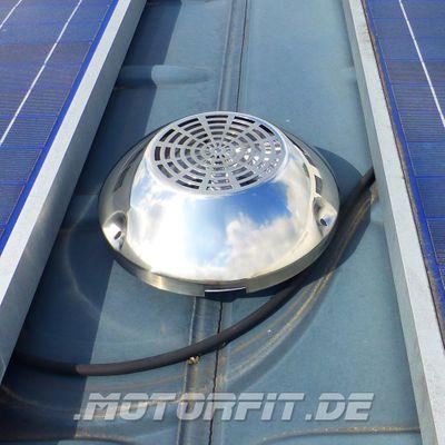 Dachlüfter für James Cook weiß silber Edelstahlkappe Dachentlüfter NCV3 W903 W906 Pilzlüfter – Bild 1