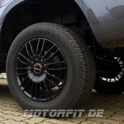 Borbet 4x Leichtmetallfelge CW3 7,5 x 18 Zoll für Mercedes Benz X-Klasse black glossy Radlast 1250 LK114 Alufelge Alufelgen schwarz Felgensatz – Bild 2