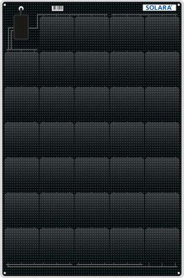 SOLARA Solarmodul M-SERIE S465M31 - 105Wp - Marine - ~420Wh pro Tag - 1.120x545x4mm mit Backcontakt Solarzellen