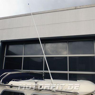 UKW Seefunkantenne, Glasfiber, 1,5m lang, 3dB Gewinn, Nylonfuss Antenne – Bild 1
