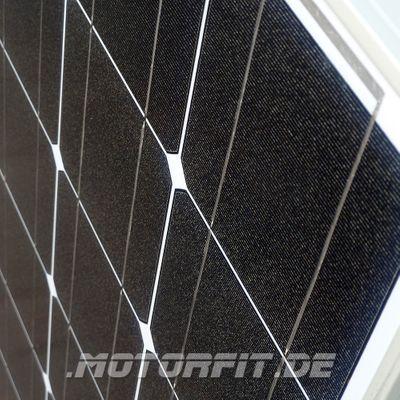 110W / 115W (12V) Solar Spar Set MPPT Solar speziell für Kastenfahrzeuge! KOMPLETTSET Solaranlage 110 Watt Haltewinkel – Bild 2
