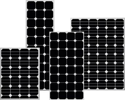 50W SOLAR PANEL - ~200Wh pro Tag - black Sunpower AAA 545x668x35mm E200M36