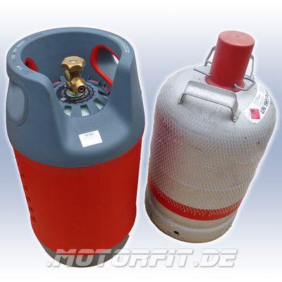 Komposit Gasflasche 24,5 Liter Set mit Adapter NUR 5,2 KG mit 80% Füllstop G12 Tankflasche LPG 11kg Gas Tankadapter – Bild 3