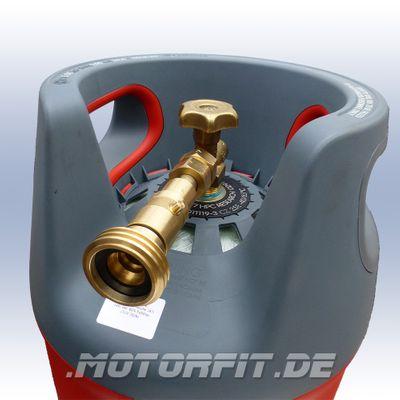 Tankadapter Set für Komposit Gasflasche 24,5 Liter LPG Gas 11kg Propan Butan Camping – Bild 6