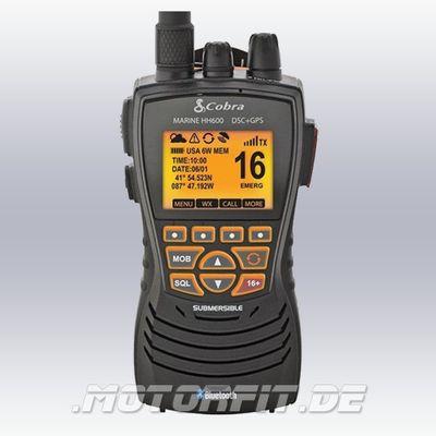 Cobra UKW GPS ATIS Sprechfunk MR HH600 Seefunk Handfunkgerät - schwimmfähig - Bluetooth DSC 1/3/6 Watt! – Bild 1
