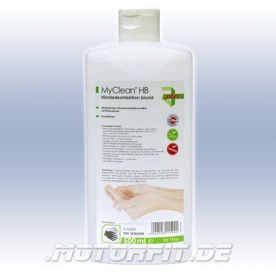 MyClean HB Hände-Desinfektion 500ml Desinfektionsmittel Desinfektion Haut Viruzid Biozid – Bild 1