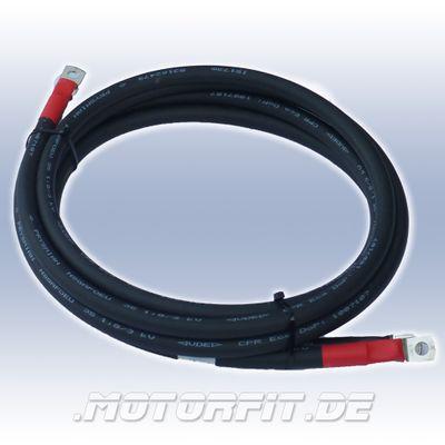 Kabelsatz DC Kabel 2x2m, DC-Cable 35-2 35 mm² Batteriekabel für Batterie / Wechselrichter