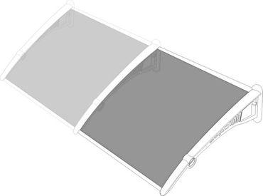 Vordach Überdachung Haustürdach Türdach 1,3 x 0,9m – Bild 5