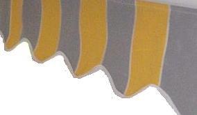 Volant Bordüre Borte für Kassettenmarkisen Vollkassette – Bild 3