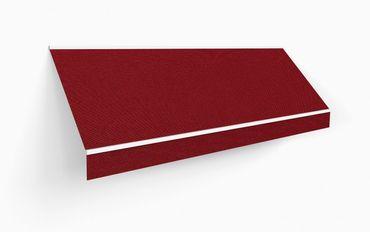 400 x 300 Kassettenmarkise Markise bordo weinrot UNI mit Funkmotor Gestell anthrazit – Bild 3